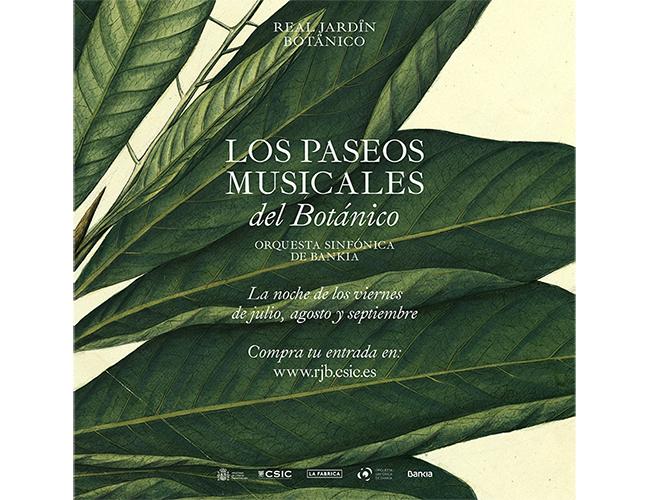 El Real Jardín Botánico amplía durante el mes de octubre el ciclo de  'Paseos Musicales' de la mano de la Orquesta Sinfónica de Bankia
